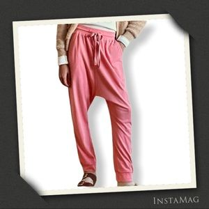 SATURDAY SUNDAY Watermelon Pink Harem Pants